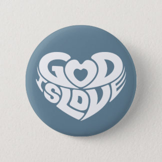 Cool Christian God Is Love Bible Verse Scripture 2 Inch Round Button