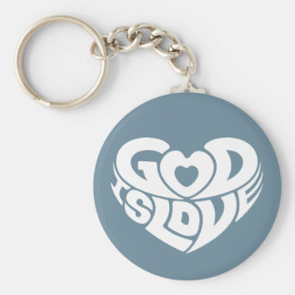 Cool Christian God Is Love Bible Verse Scripture Keychain