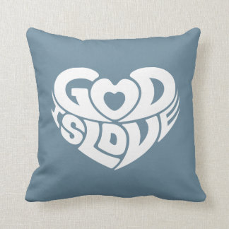 Cool Christian God Is Love Bible Verse Scripture Throw Pillow