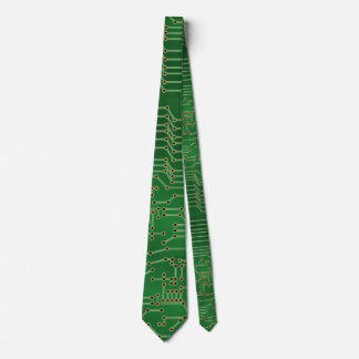 Cool Circuit Board Computer Green Party Tie