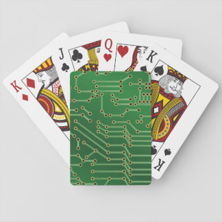 Cool Circuit Board Computer Green Playing Cards