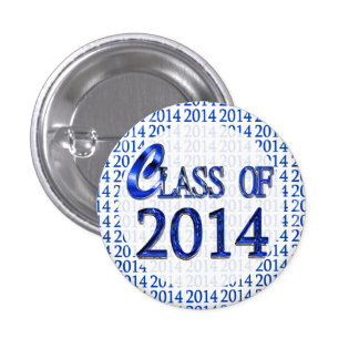 Cool Class Of 2014 Blue And White Graduation Pins