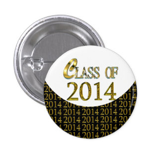 Cool Class Of 2014 Gold, Black & White Grad Pins