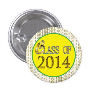 Cool Class Of 2014 Gold, Yellow, Green Grad Pins