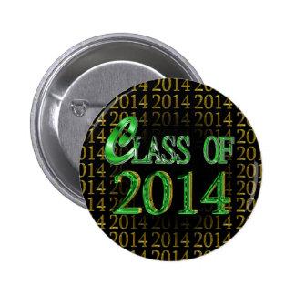 Cool Class Of 2014 Green & Black Graduation Pins