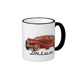 Cool Classic Car Driver Retro Auto Ringer Mug