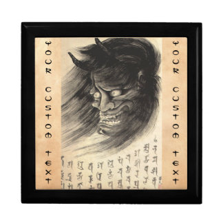 Cool classic vintage japanese demon head tattoo trinket boxes