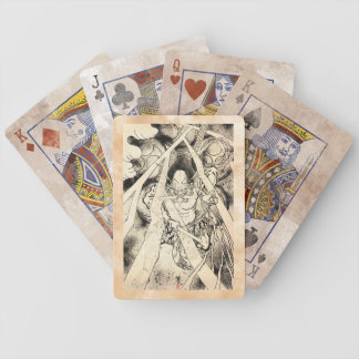 Cool classic vintage japanese demon ink tattoo bicycle playing cards