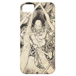 Cool classic vintage japanese demon ink tattoo iPhone 5 case