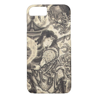 Cool classic vintage japanese demon ink tattoo iPhone 7 case