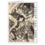 Cool classic vintage japanese demon ink tattoo note card