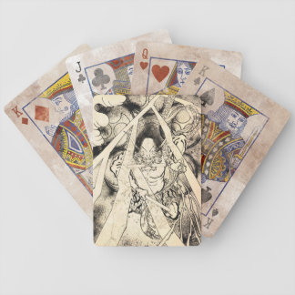 Cool classic vintage japanese demon ink tattoo poker deck
