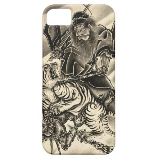 Cool classic vintage japanese demon samurai tiger iPhone 5 covers