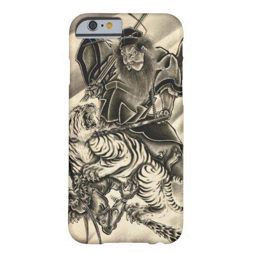 Cool classic vintage japanese demon samurai tiger iPhone 6 case