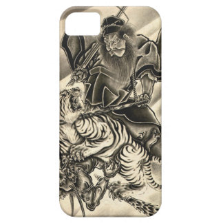 Cool classic vintage japanese demon samurai tiger case for the iPhone 5