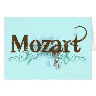 Cool Classical Mozart Card