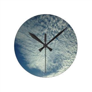 cool clouds round clock