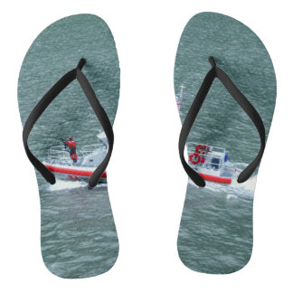 Cool Coast Guard On Patrol Novelty Flip Flops