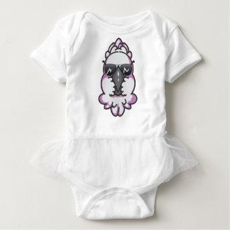 Cool cockatoo baby bodysuit