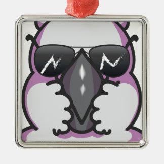 Cool cockatoo metal ornament