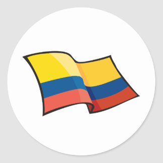 Cool Colombia Flag Classic Round Sticker