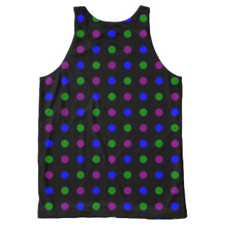 Cool Color Polka Dots Tank Top