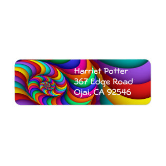 Cool Colorful Abstract Fractal Art Return Address Label