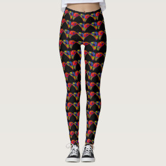 Cool Colorful Butterfly Pattern Custom Style Leggings