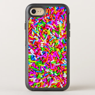 Cool Colorful Candy Sprinkles Pink Blue White OtterBox Symmetry iPhone 8/7 Case