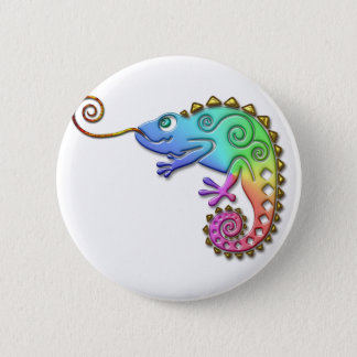 Cool Colorful Chameleon 2 Inch Round Button