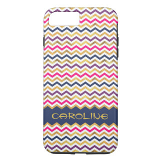 Cool Colorful Chevron Pattern With Name Case-Mate iPhone Case