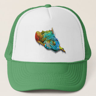 Cool Colorful Cute Rainbow Lizard Reptile Trucker Hat