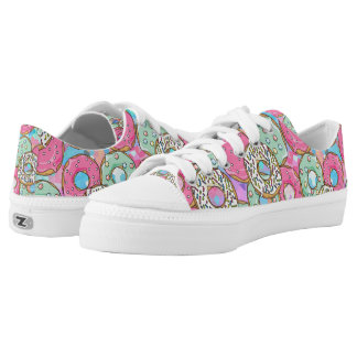 cool colorful donut pattern Low-Top sneakers