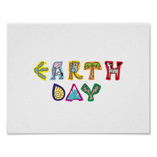 Cool Colorful Earth Day Custom Poster