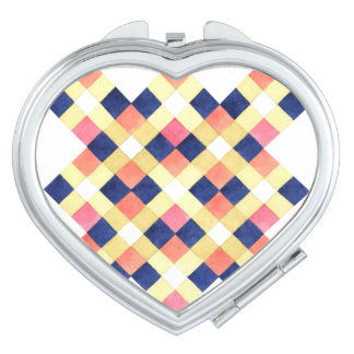 Cool Colorful Geometric Patterns Compact Mirrors