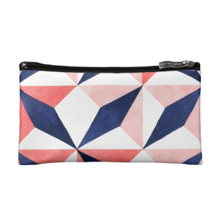 Cool Colorful Geometric Patterns Cosmetic Bag