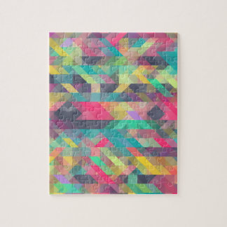Cool colorful geometric triangles pattern jigsaw puzzle
