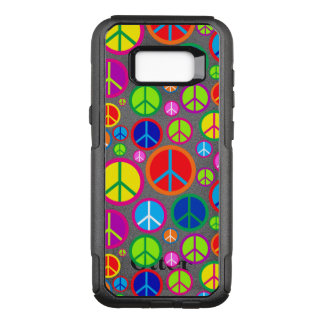 Cool Colorful Groovy Peace Symbols OtterBox Commuter Samsung Galaxy S8+ Case