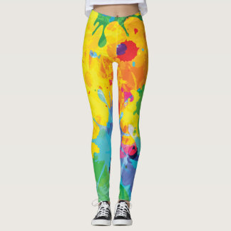 Cool Colorful Ink Splashes Leggings