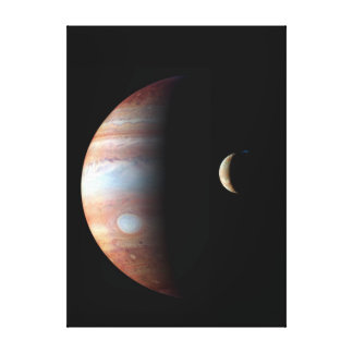 Cool Colorful Jupiter and Io Canvas Print