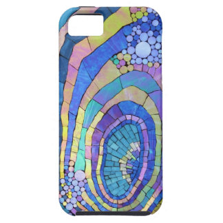 Cool Colorful Mosaic Spiral Pattern iPhone 5 Case