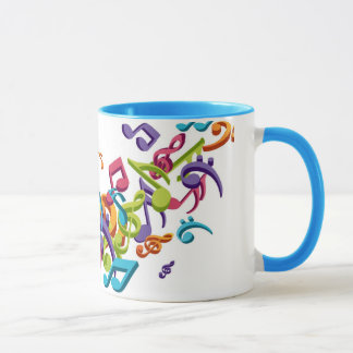 cool colorful music notes & sounds mug