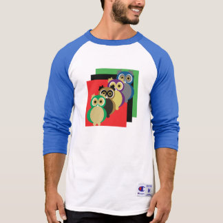 Cool Colorful Owls T-Shirt