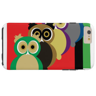 Cool Colorful Owls Tough iPhone 6 Plus Case