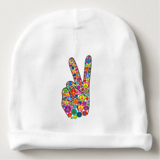 Cool Colorful Peace Signs Baby Beanie