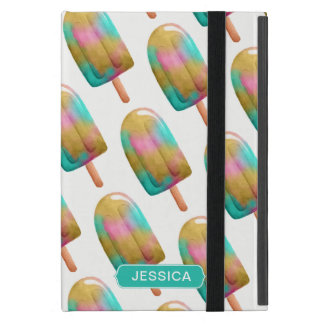 Cool Colorful Popsicle Pattern with Name Cover For iPad Mini