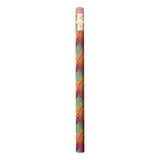 Cool Colorful red, Rainbow of Liquid Dots pattern. Pencil