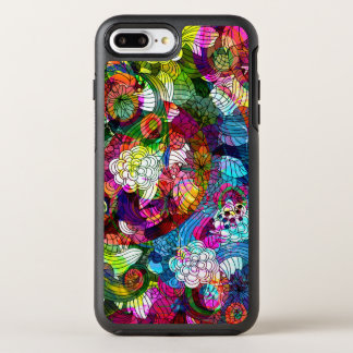 Cool Colorful Retro Floral Collage Pattern OtterBox Symmetry iPhone 8 Plus/7 Plus Case