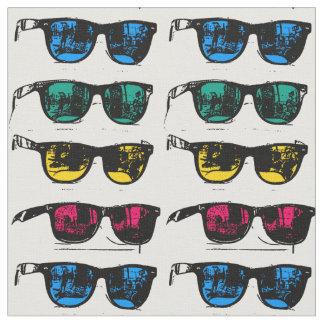 Cool Colorful Sunglasses Illustration Fabric