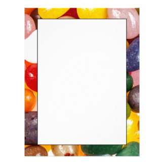 Cool colorful sweet Easter Jelly Beans Candy Letterhead